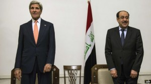Mr Kerry met Mr Maliki