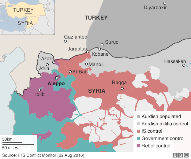 US Says Turkey Fighting In Northern Syria Must Stop Armoured - Where is syria and turkey
