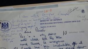 Margaret Thatcher Letter