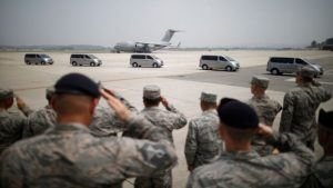 US Airmen Salute Return