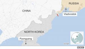 North Korea Russia Map