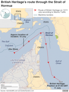 British Tanker Gulf Map