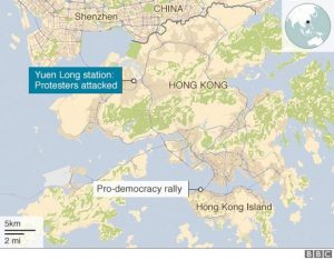 Hongkong Protest Attack Map