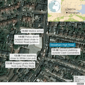 Streatham Road Attack Map